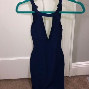 Blue bandage dress